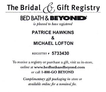 Bed Bath And Beyond Registry | BangDodo